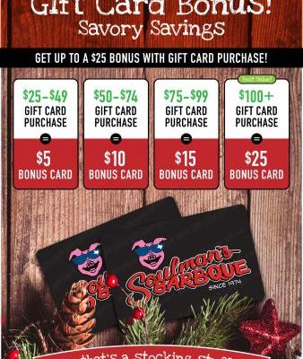 Give the Gift of 'Que this Holiday with Soulman's Gift Cards