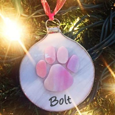 Handmade Pink Paw Ornament - Limited Edition