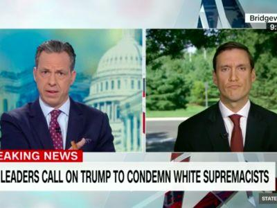 """'I haven't heard you say """"I condemn white supremacists""""': Jake Tapper confronts White House adviser over Trump's refusal to explicitly call out neo-Nazis"""