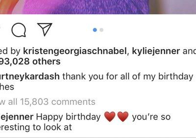 Kylie Jenner's Comment On Kourtney Kardashian's Instagram Throws So Much Shade At Kim