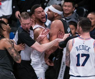 Nets-Sixers erupts into mayhem over hard Joel Embiid foul