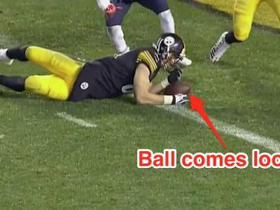 The NFL's controversial catch rules once again played a part in another huge game