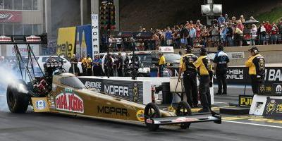 Mopar® Celebrates at NHRA Mopar Mile-High Nationals; Kevin Helms Wins Stock Eliminator in Drag Pak Dodge Challenger