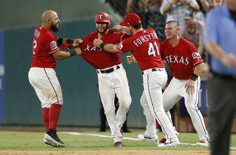 Angels back in Texas after Skaggs' death, Rangers rally, 8-7