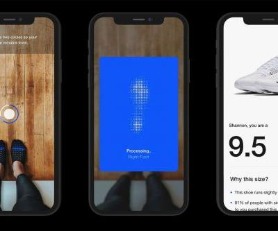 Nike's new app uses AR to measure your feet to sell you sneakers that fit