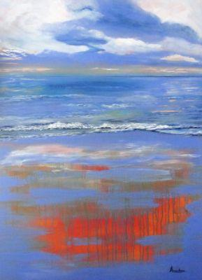 Original Contemporary Abstract Seascape Painting