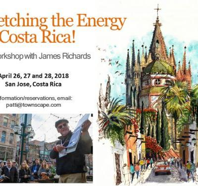 Sketching the Energy in Costa Rica! A Workshop with James Richards