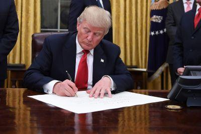 On Trump's agenda today: Get the hell out of the TPP
