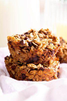 Chocolate Banana Baked Oatmeal Cups