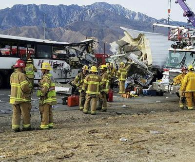 Trucker arrested for California bus crash that killed 13