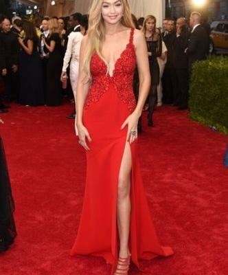 Gigi Hadid's 2018 Met Gala Look Shines Like Stained Glass & You Need To See It