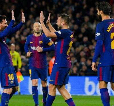 Barcelona 5 Celta Vigo 0 : Messi inspires rout as holders book quarter-final spot