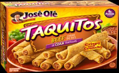 "17 and half tons of Jose' Ole' beef taquitos recalled for ""extraneous materials"""