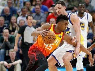 Rubio's double-double leads Jazz to 30-point drubbing of Warriors