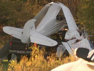 Pilot killed when small plane collided with pickup truck