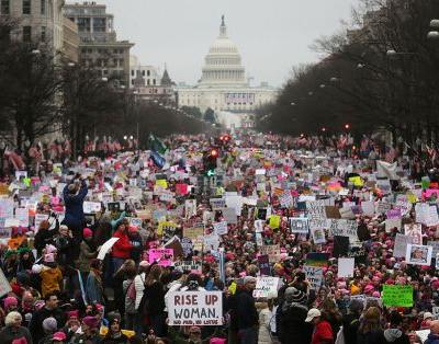 National Archives Apologizes for Censoring Anti-Trump Messages from Women's March Photo