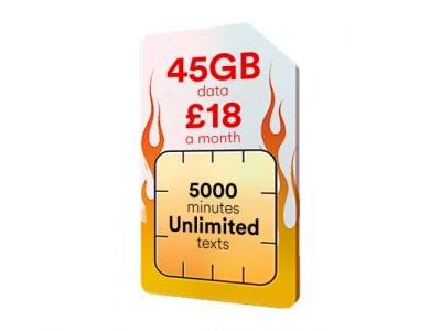 This 45GB SIM only deal for just £18 per month is astonishing value