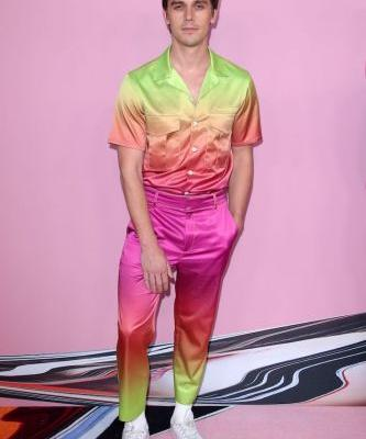 Antoni Porowski's Head-to-Toe Ombré Rainbow Ensemble Is the Only Outfit I Need This Pride Month
