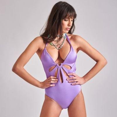 Pinupstars: PinupStars swimsuit with a sexy flower cut-out