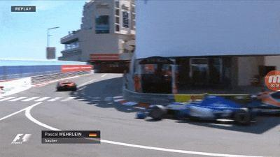 Formula One Driver Pascal Wehrlein Flipped Into And Trapped By Monaco Wall