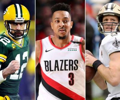 Trail Blazers' CJ McCollum: 'We need more Aaron Rodgers and less Drew Brees'