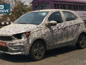 New Tata Tiago Facelift Spied Borrows Design Cues From Altroz