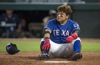 Perez plays ball off Choo's nose to help Duffy, KC top Texas