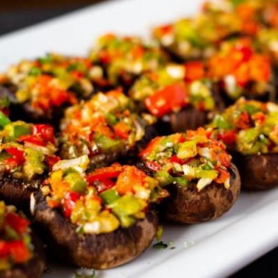 Mediterranean-Stuffed Mushrooms
