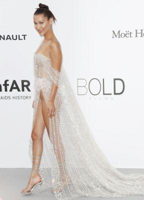 Bella Hadid Suffers Wardrobe Malfunction at Cannes Film Festival