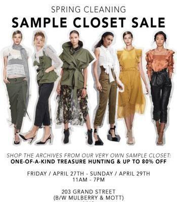 MARISSA WEBB SAMPLE CLOSET SALE - APRIL 27TH - 29TH IN NEW YORK, NY