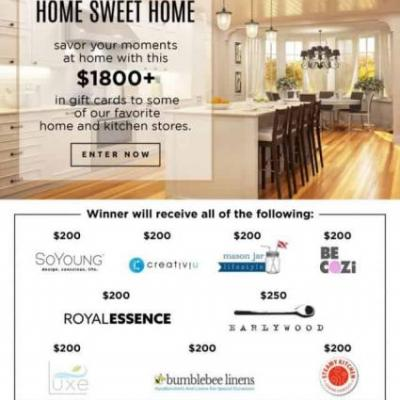 $1800+ Home & Kitchen Giveaway