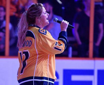 Trisha Yearwood sings national anthem before Predators' Game 6