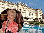 Angela Rippon heads to a Portuguese spa for physio and fine food after a painful shoulder op