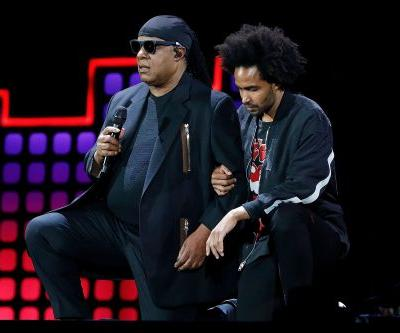 Stevie Wonder takes a knee in solidarity with NFL stars