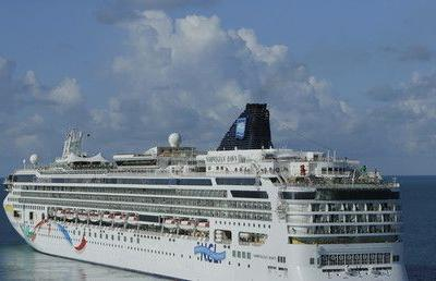 'Lost-at-sea' cruise worker found alive 22hrs after falling overboard