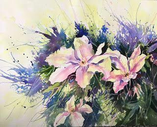 A Welcome Release..Watercolor..Texas Artist..Rae Andrews