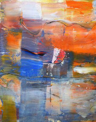 """Non Objective Painting, Contemporary Art """"Into the Misty"""" by International Abstract Realism Artist Arrachme"""