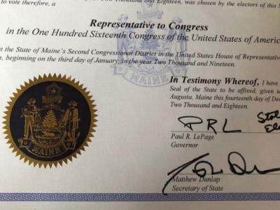Maine GOP Governor Paul LePage Writes 'Stolen Election' in Certifying District Result
