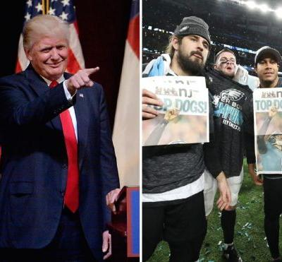 Trump Says He Disinvited Eagles Over Anthem.Which They All Stood For Every Game This Year
