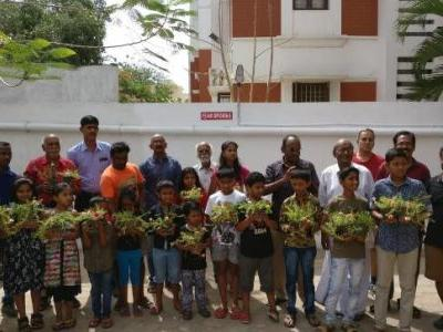With a vertical garden in Chennai, children urge people to recycle and save nature