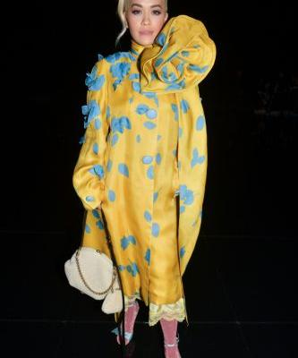 Rita Ora Looks Like a Walking Flower Blossom at NYFW
