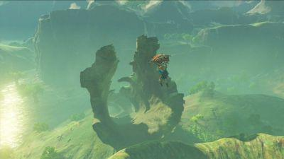 Newest Breath Of The Wild Screenshot Shows Link Sailing Through The Sky