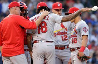 Martínez touched for six runs as Cardinals fall to Cubs 9-6