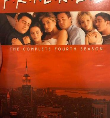 Why only Rachel have open eyes in Friends poster?