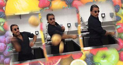 Salt Bae is back with another swoon-filled video - but this time it involves fruit