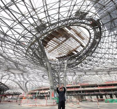 Beijing has unveiled a $12 billion airport that's the biggest in the world -here's the first look