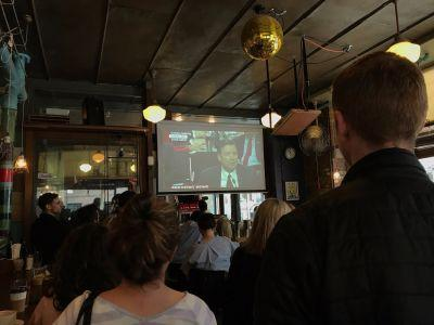 We went to a Comey watch party at a bar in Brooklyn - here's what it was like