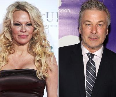 Pam Anderson jokes with Alec Baldwin about Julian Assange pardon