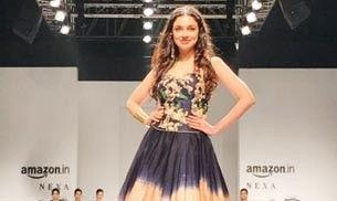 Divya Khosla Kumar was a colourful mess on the AIFW runway