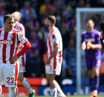 Stoke City 1 Crystal Palace 2: Potters relegated after throwing away lead